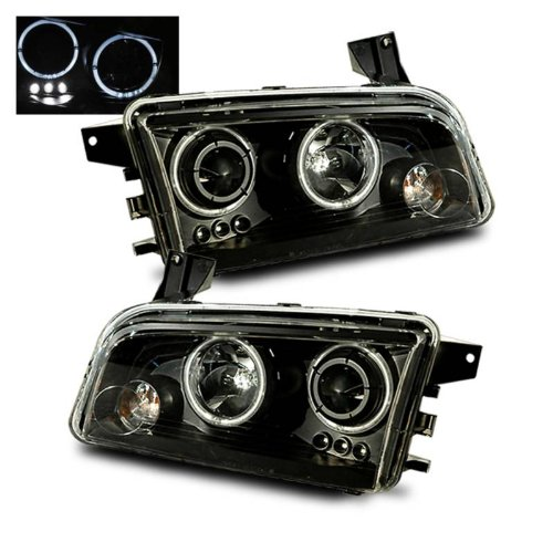 SPPC Projector Headlights Halo Black For Dodge Charger - (Pair) (Halo Headlights Dodge Charger compare prices)