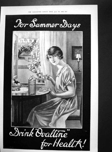 antiker-druck-von-ovaltine-anzeige-allenburys-frau-lloyd-george-taunton-1922