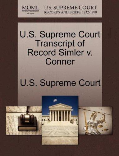 U.S. Supreme Court Transcript of Record Simler v. Conner