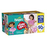 Pampers Easy Ups Girls Size 3T4T Value Pack, 90 Count