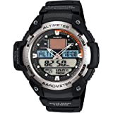 Casio Men's SGW400H-1BV Black Resin Quartz Watch with Grey Dial (Color: Grey)