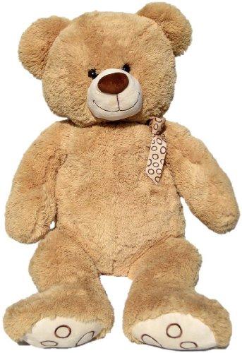 Wagner 9015 - XXL Plüschbär Teddy Bär - 100 cm groß - hell-braun - Teddybär