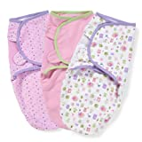 Summer Infant SwaddleMe Adjustable Infant Wrap, 3-Pack, Who Loves You