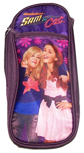 "Staples Sam & Cat Double Pocket Pencil Case ~ Friends Forever (8.75"" x 4"" x 1.5"")"