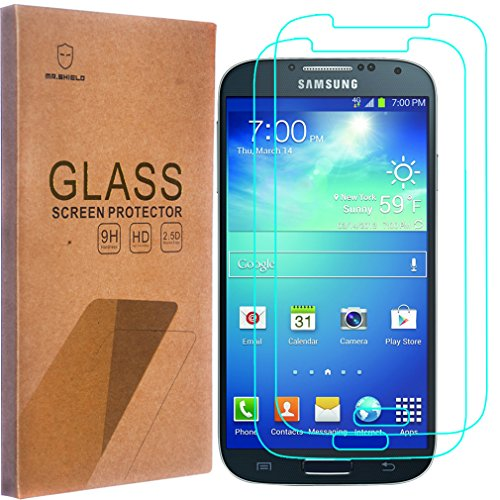 2-PACK-Mr-Shield-For-Samsung-Galaxy-S4-Tempered-Glass-Screen-Protector-with-Lifetime-Replacement-Warranty