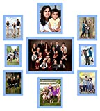 UberLyfe Elegant Blue Photo Frame Collage Collection - Set of 9 (PF-CLG-BL9P)