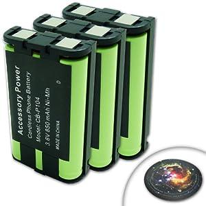 3-PACK PANASONIC HHR-P104 / HHR-P104A / CS90499 / TL26411 / 12423885 / Type 29 Battery For Select Panasonic KX Series Cordless Telephones KXTGA545 **Includes Mousepad