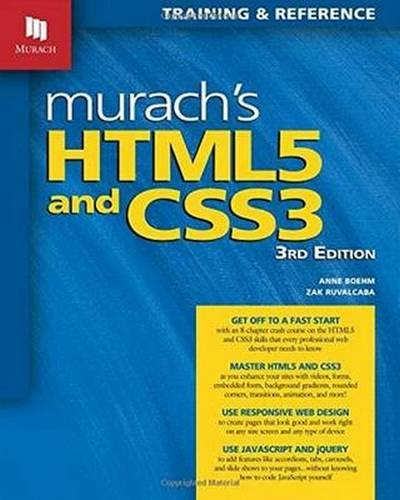 Download Murach's HTML5 and CSS3, 3rd Edition