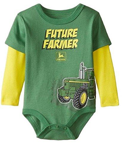John Deere Baby Boys Future Farmer Bodyshirt- 9-12 months