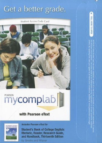 MyCompLab with Pearson eText -- Standalone Access Card -- for Student's Book of College English (13th Edition) (MyCompLa
