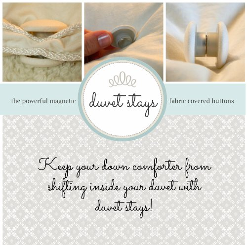 Best Price Duvet Stays (Ivory) U.S. patent 8464377 keep your down comforter from shifting inside you...