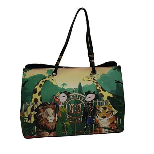 Borsa Love Moschino JC4095 woman handbag shopping saffiano grande girls verde