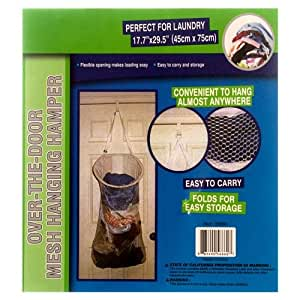 3 Pk Over The Door Laundry Bag Mesh Hanging W