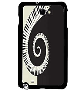 Printvisa Curved Piano Tiles Pattern Back Case Cover for Samsung Galaxy Note i9220::Samsung Galaxy Note 1 N7000