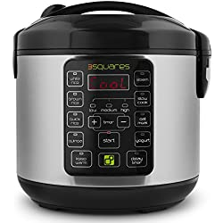 3 Squares 3RC-9010S TIM3 MACHIN3 20-Cup (Cooked) Rice Cooker and Multi Cooker, 4-Quart Capacity