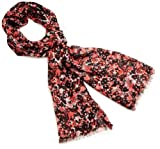 Great Plains Women's Forget Me Not Floral Prnt Checkered Scarf