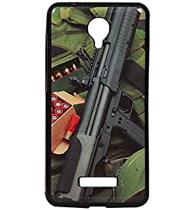 Arms & Ammunition Exclusive Rubberised Back Case Cover for Micromax Canvas Spark Q380