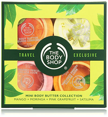 The Bodyshop Travel Exclusive Mini Body Butter Collection, 4x50 ml, Donna, 200 ml