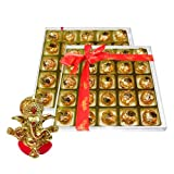 Chocholik's Perfect Combination Of Almond And Fruit & Nut Chocolate Truffles With Ganesha Idol - Diwali Gifts