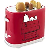 Smart Planet HDT1S Peanuts Snoopy Hot Dog Toaster, Red