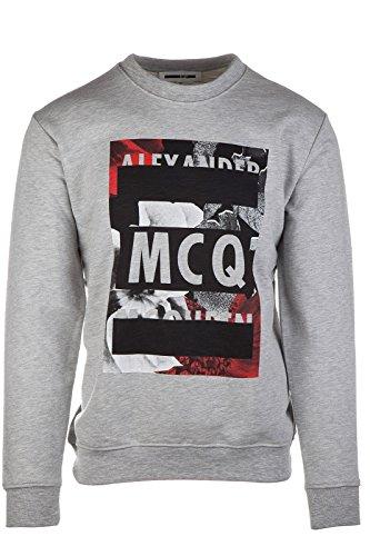 MCQ Alexander McQueen felpa uomo originale grigio EU S (UK 36) 348190 RGR21 1202