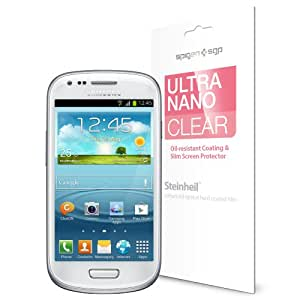 SPIGEN SGP Samsung Galaxy S3 MINI Screen Protector Clear [Ultra Nano Clear] [3-PACK] Ultimate Clarity i8190