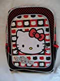 Hello Kitty Backpack Red, Black and White