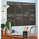 Wallies Peel And Stick Chalkboard Sheet Slate Gray Set Of 4