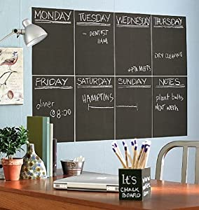 Wallies Peel and Stick Chalkboard, 4-Sheet
