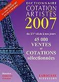 echange, troc Christian Sorriano - Dictionnaire Cotation des artistes 2007 (1Cédérom)