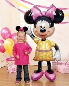 "MINNIE Mouse Ears 54"" Air WALKER AIRWALKER JUMBO Birthday Party Mylar Balloon"