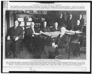 Photo: Memorial,President Abraham Lincoln approved,H Taft,Joe Cannon,Washington,1913