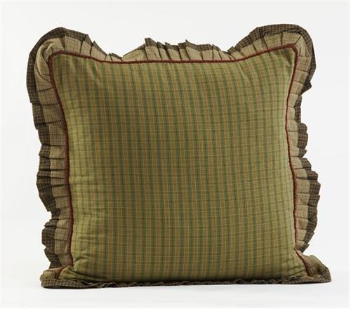 "Tea Cabin Fabric Ruffled Edgge Decorative 26"" Euro Sham"