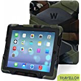 Ipad Case, Ipad 2/3/4 Case, Aceguarder® Design New Snowproof Rainproof Dirtproof Shockproof Cover Case with Stand Super Protection for Ipad 2/3/4 (Camo/Black)