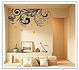 Oren Empower Black Wall Mural Art PVC Vinyl Large Wall Sticker
