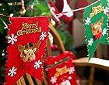 かわいい トナカイ フェルト クリスマス ガーランド 約2.4m 【BWS-223】 雪の結晶 赤 緑 ゴールド フラッグ デコレーション 飾り パーティー イベント