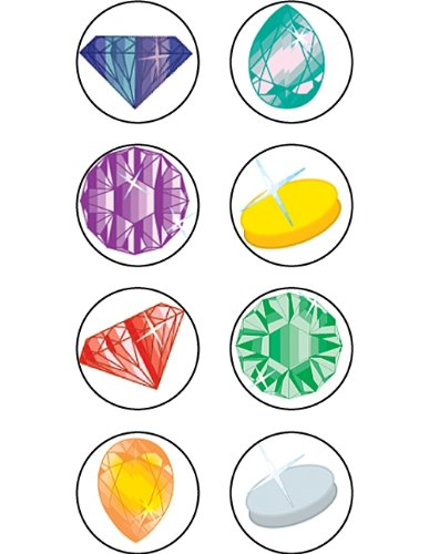 Teacher Created Resources Jewels Mini Stickers, Multi Color (1815)