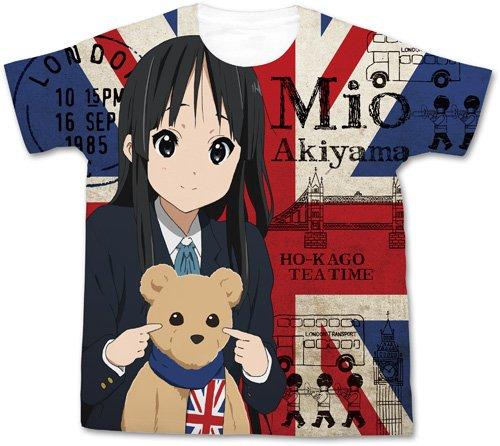 映画「けいおん!」 秋山澪フルグラフィックTシャツ ホワイト サイズ:XL