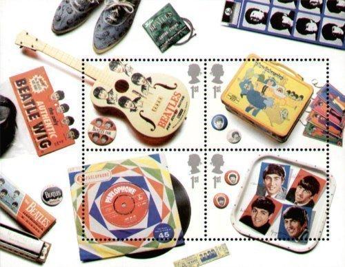 Hoja Miniatura de Estampillas de los Beatles de 2007