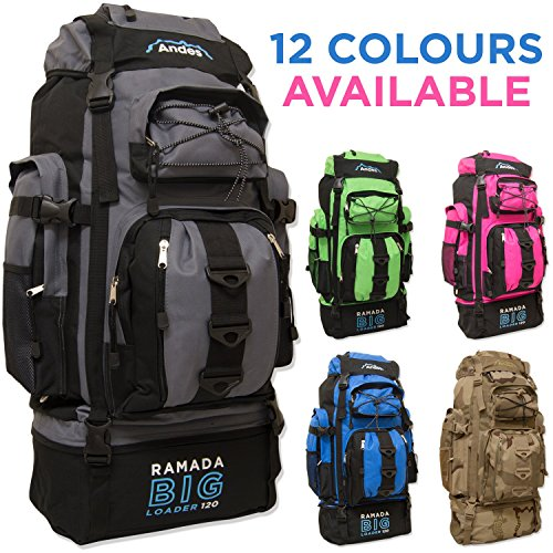 Andes-Ramada-120L-Extra-Large-Hiking-Camping-BackpackRucksack-Luggage-Bag