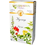 Celebration Herbals, Herbal Tea, Hyssop, Caffeine Free, 24 Tea Bags, 0.84 oz (24 g)