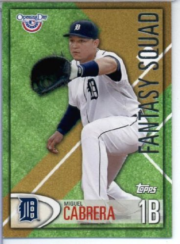 2012 Topps Opening Day Fantasy Squad Baseball Card #Fs -2 Miguel Cabrera - Detroit Tigers - Mlb Trading Card