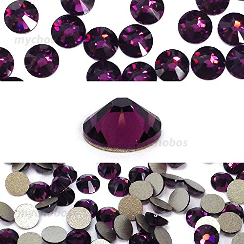 AMETHYST (204) purple violet Swarovski NEW 2088 XIRIUS Rose 34ss 7mm flatback No-Hotfix rhinestones ss34 18 pcs (1/8 gross) *FREE Shipping from Mychobos (Crystal-Wholesale)*