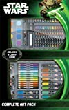 Childrens Kids Star Wars 65pc Complete Art Craft Set Carry Case Pens Pencils