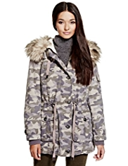 Limited Edition Pure Cotton Hooded Camouflage Parka