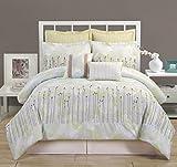 COMPASS 8 Piece Luxurious Comforter Set, Queen, Multicolor