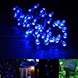 INST Solar Powered LED String Light, Ambiance Lighting, 54.5ft 17m 100 LED Solar Fairy String Lights for Outdoor, Gardens, Homes, Christmas Party (Blue)