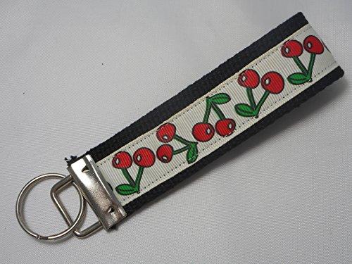 Key Chain, Key Fob, Wristlet Key Chain, Wristlet Key Fob -- Cherry Wristlet Cherry