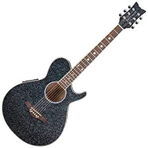 daisy rock wildwood artist acoustic electric guitar rainbow sparkle musical. Black Bedroom Furniture Sets. Home Design Ideas
