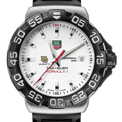 Marquette University TAG Heuer Watch - Men's Formula 1 Watch with Rubber Strap
